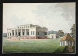 Rear view of the house of the Hon. David Anstruther at Champapoka near Murshidabad